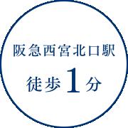阪急西宮北口駅徒歩1分